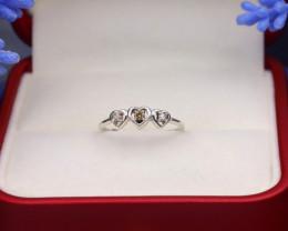 Yellow Diamond 1.01g Natural Untreated Yellow Diamond Silver Ring NXS131
