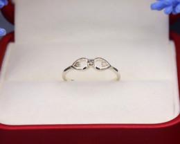 Brown Diamond 1.01g Natural Untreated Brown Diamond Silver Ring NXS134