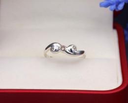 Orange Diamond 1.06g Natural Untreated Orange Diamond Silver Ring NXS150