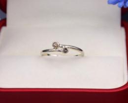 Brown Diamond 0.90g Natural Untreated Brown Diamond Silver Ring NXS161/1