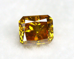 Yellowish Orange Diamond 0.31Ct Natural Untreated Genuine  Diamond BM864