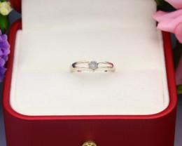 Grey Diamond 0.98g Natural Untreated Fancy Grey Diamond Silver Ring NXS79