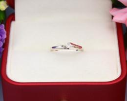 Grey Diamond 0.88g Natural Untreated Fancy Grey Diamond Silver Ring NXS94