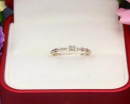 Yellow Diamond 0.99g Natural Untreated Yellow Diamond Silver Ring NXS99/2