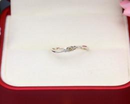 Yellow Diamond 0.91g Natural Untreated Yellow Diamond Silver Ring NXS105
