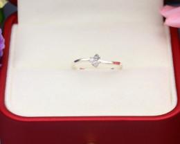 Grey Diamond 0.82g Natural Untreated Fancy Grey Diamond Silver Ring NXS119