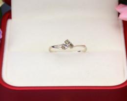 Yellow Diamond 0.75g Natural Untreated Yellow Diamond Silver Ring NXS141