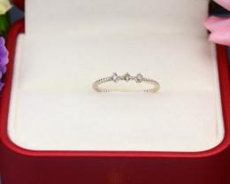 Yellow Diamond 0.81g Natural Untreated Yellow Diamond Silver Ring NXS148