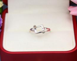 Brown Diamond 0.99g Natural Untreated Brown Diamond Silver Ring NXS160