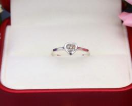 Brown Diamond 0.87g Natural Untreated Brown Diamond Silver Ring NXS173