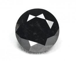 Black Diamond 20.17Ct Round Cut Natural Black Color Diamond BM966