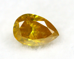 Orangy Yellow Diamond 0.36Ct Natural Untreated Genuine Fancy Diamond BM981