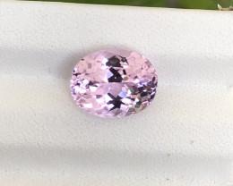 ~NR~HGTL Certified 4.61 Carats Natural Kunzite Gemstone From Afghanistan