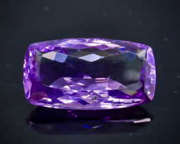 Crt 18.12  amethyst  Natural  Faceted Gemstone.( AB 34)