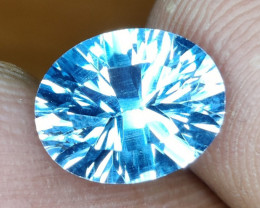 3.05  CTS~EXCELLENT LUSTER CUT NATURAL UNHEATED  BLUE TOPAZ