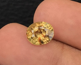 4.43 Crt Zircon  Yellow Natural Unheated Mine Sri Lanka