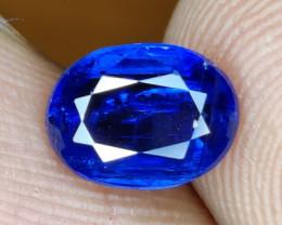 1.40 CTS EXCELLENT RARE BLUE SAPPHIRE COLOR NATURAL KYANITE OVAL GEM