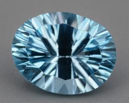 Natural Blue Topaz 4.98  Cts Concave Cut.