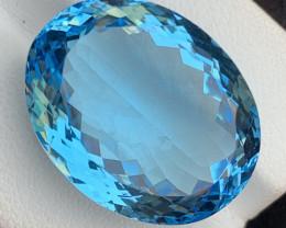 35.75 Carats Blue  Topaz Gemstone