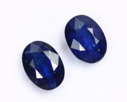 1.99cts Natural Dark Blue Sapphire Earring Pair /MAX2571