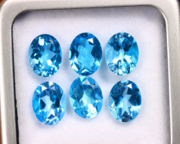 12.71cts Natural Swiss Blue Topaz Lots/MAZ2582