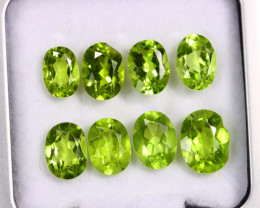 10.55cts Natural Green Peridot LOTS/OFMA2586