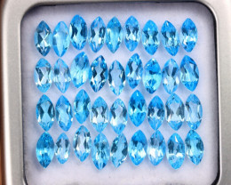 10.88cts Natural Swiss Blue Topaz Lots/MAZ2588