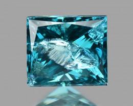Princess Blue Diamond 0.20 Cts Sparkling Natural Fancy Blue Color