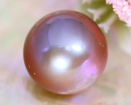 13.2mm 16.22Ct Natural Tahitian Purple Black Pearl A2301