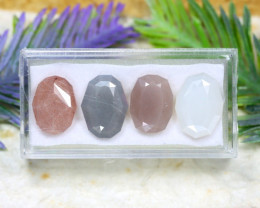 Moonstone 20.97Ct 4Pcs Natural Fancy Color Moonstone A2309