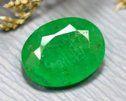 Emerald 2.07Ct Natural Zambia Green Emerald D2619/A38