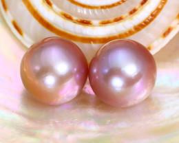 10.0mm 13.66Ct Natural Oceania South Sea Purplish Pink Pearl A2322