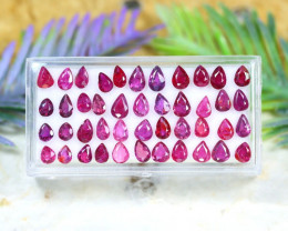 Red Ruby 12.44Ct Pear Cut Siamese Pigean Blood Red Ruby Lot A2326