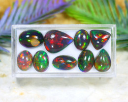 Opal 18.32Ct Natural Flash Color Ethiopian Welo Black Smoked Opal A2330