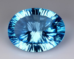 21.32 CT BLUE TOPAZ AWESOME COLOR AND CUT GEMSTONE TP2