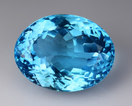 31.81 CT BLUE TOPAZ AWESOME COLOR AND CUT GEMSTONE TP03