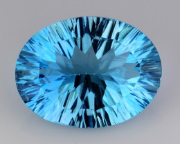 8.56 CT BLUE TOPAZ AWESOME COLOR AND CUT GEMSTONE TP10