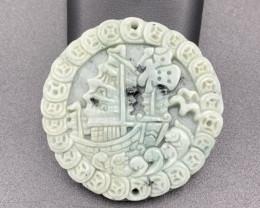 159 Cts Brilliant Hand Carving Beautiful Jade.