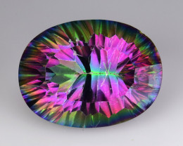 18.47 Cts Rainbow Mystic Quarts Top Color Gemstone MQ03