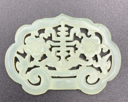 65.20 Cts Excellent Hand Carving Light Green Jade.