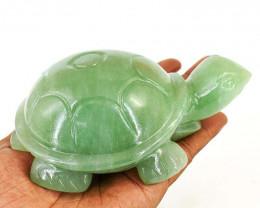 Genuine 2720.00 Cts Aventurine Turtle Carving