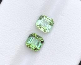 1.60 Cts Pair of Asscher cut Tourmaline Gemstone from  Afghanistan