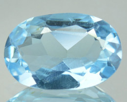1.59 Cts Genuine Natural Blue Topaz Brazil Gem