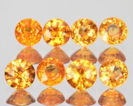 1.84 Cts Natural Fanta Orange Spessartite Garnet 3.6-3.3mm Round Namibia