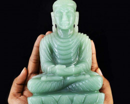 Genuine 6075.00 Cts Aventurine Huge Lord Buddha