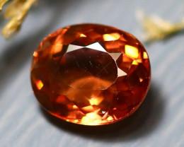 Tourmaline 1.30Ct Natural Pinkish Orange Tourmaline D2810/B49