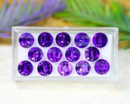 Amethyst 16.77Ct VVS Natural Uruguay Violet Amethyst Lot C2415