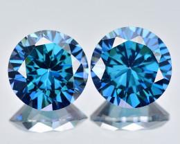 Azotic Topaz 9.62 Cts 2Pcs Millennium Cut Blue Color Natural Gemstone