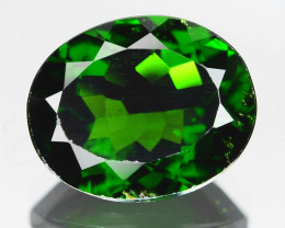 Chrome Diopside 2.84 Cts Unheated Vivid Green Color Natural Gemstone