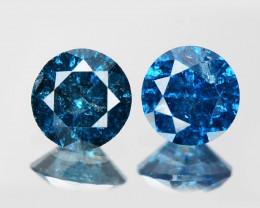 Blue Diamond 0.37 Cts 2Pcs Fancy Blue Color Natural